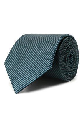 Мужской шелковый галстук LANVIN бирюзового цвета, арт. 3503/TIE   Фото 1 (Материал: Текстиль, Шелк; Принт: С принтом)