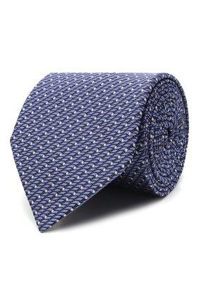 Мужской шелковый галстук LANVIN сиреневого цвета, арт. 3209/TIE | Фото 1 (Материал: Текстиль, Шелк; Принт: С принтом)