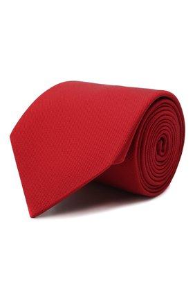 Мужской шелковый галстук LANVIN красного цвета, арт. 1301/TIE | Фото 1 (Материал: Текстиль, Шелк; Принт: Без принта)