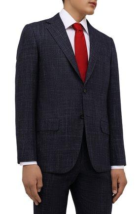 Мужской шелковый галстук LANVIN красного цвета, арт. 1301/TIE | Фото 2 (Материал: Текстиль, Шелк; Принт: Без принта)