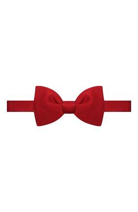 Мужской шелковый галстук-бабочка LANVIN красного цвета, арт. 1282/B0W TIE | Фото 1 (Материал: Текстиль, Шелк)