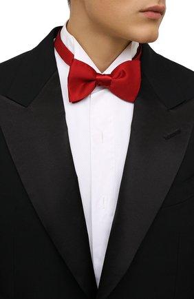 Мужской шелковый галстук-бабочка LANVIN красного цвета, арт. 1282/B0W TIE | Фото 2 (Материал: Текстиль, Шелк)