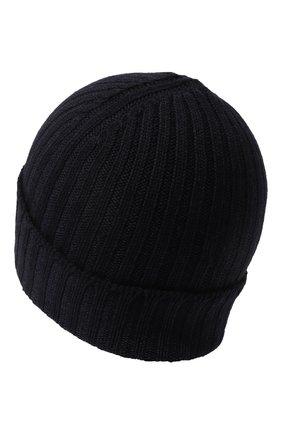 Мужская шерстяная шапка GRAN SASSO темно-синего цвета, арт. 23190/22700 | Фото 2 (Материал: Шерсть; Кросс-КТ: Трикотаж)