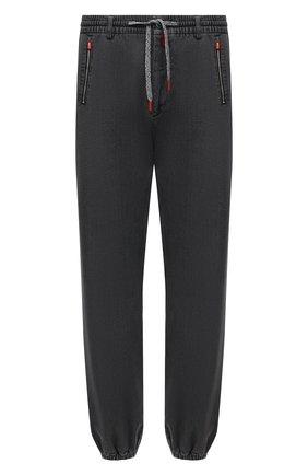 Мужские джинсы KITON серого цвета, арт. UFPPZ/J0330A   Фото 1 (Длина (брюки, джинсы): Стандартные; Материал внешний: Хлопок; Кросс-КТ: Деним; Силуэт М (брюки): Прямые; Стили: Кэжуэл)