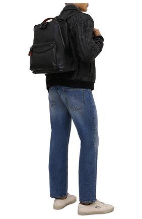 Мужской кожаный рюкзак SANTONI черного цвета, арт. UIBBA2107LI-GGTQN01 | Фото 2 (Материал: Натуральная кожа)