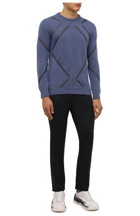 Мужской кашемировый свитер IL BORGO CASHMERE синего цвета, арт. 57-220G0 | Фото 2 (Материал внешний: Кашемир, Шерсть; Длина (для топов): Стандартные; Рукава: Длинные; Мужское Кросс-КТ: Свитер-одежда; Стили: Кэжуэл)