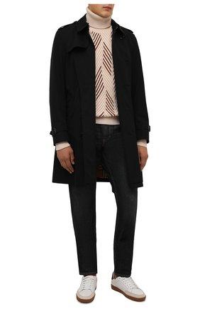Мужской кашемировый свитер IL BORGO CASHMERE кремвого цвета, арт. 56-707-02G0 | Фото 2 (Рукава: Длинные; Длина (для топов): Стандартные; Материал внешний: Кашемир, Шерсть; Мужское Кросс-КТ: Свитер-одежда; Стили: Кэжуэл)