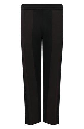 Мужские брюки BOTTEGA VENETA черного цвета, арт. 665907/V0C10 | Фото 1 (Материал внешний: Вискоза, Синтетический материал; Случай: Повседневный; Стили: Спорт-шик; Длина (брюки, джинсы): Стандартные)