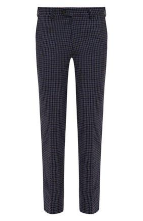 Мужские кашемировые брюки MARCO PESCAROLO синего цвета, арт. SLIM80/ZIP/4446   Фото 1 (Материал подклада: Хлопок; Длина (брюки, джинсы): Стандартные; Материал внешний: Шерсть, Кашемир; Случай: Повседневный; Стили: Кэжуэл)