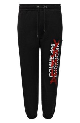 Мужские хлопковые джоггеры COMME DES FUCKDOWN черного цвета, арт. CDFU1349 | Фото 1 (Материал внешний: Хлопок; Длина (брюки, джинсы): Стандартные; Силуэт М (брюки): Джоггеры; Стили: Спорт-шик; Кросс-КТ: Спорт)
