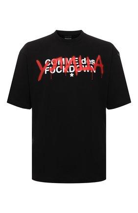 Мужская хлопковая футболка COMME DES FUCKDOWN черного цвета, арт. CDFU1348 | Фото 1 (Длина (для топов): Стандартные; Рукава: Короткие; Материал внешний: Хлопок; Принт: С принтом; Стили: Спорт-шик, Гранж)