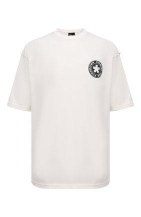 Мужская хлопковая футболка COMME DES FUCKDOWN кремвого цвета, арт. CDFU1320   Фото 1 (Материал внешний: Хлопок; Длина (для топов): Стандартные; Принт: С принтом; Рукава: Короткие; Стили: Спорт-шик)