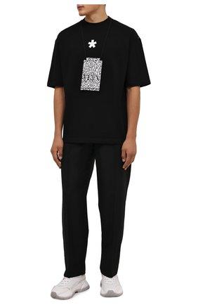 Мужская хлопковая футболка COMME DES FUCKDOWN черного цвета, арт. CDFU1307   Фото 2 (Длина (для топов): Стандартные; Материал внешний: Хлопок; Рукава: Короткие; Принт: С принтом; Стили: Спорт-шик)