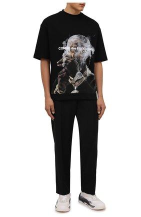 Мужская хлопковая футболка COMME DES FUCKDOWN черного цвета, арт. CDFU1301 | Фото 2 (Рукава: Короткие; Длина (для топов): Стандартные; Материал внешний: Хлопок; Принт: С принтом; Стили: Гранж)