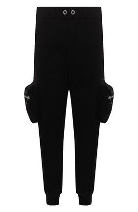 Мужские хлопковые джоггеры COMME DES FUCKDOWN черного цвета, арт. CDFU1290 | Фото 1 (Материал внешний: Хлопок; Длина (брюки, джинсы): Стандартные; Силуэт М (брюки): Джоггеры; Стили: Спорт-шик; Мужское Кросс-КТ: Брюки-трикотаж)