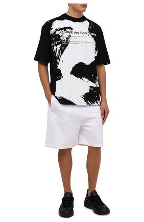 Мужская хлопковая футболка COMME DES FUCKDOWN черного цвета, арт. CDFU1268 | Фото 2 (Рукава: Короткие; Материал внешний: Хлопок; Длина (для топов): Стандартные; Принт: С принтом; Стили: Спорт-шик, Гранж)