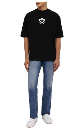 Мужская хлопковая футболка COMME DES FUCKDOWN черного цвета, арт. CDFU1261 | Фото 2 (Рукава: Короткие; Материал внешний: Хлопок; Длина (для топов): Стандартные; Принт: С принтом; Стили: Спорт-шик)