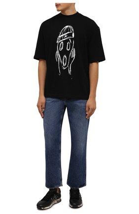 Мужская хлопковая футболка COMME DES FUCKDOWN черного цвета, арт. CDFU1254   Фото 2 (Длина (для топов): Стандартные; Рукава: Короткие; Материал внешний: Хлопок; Принт: С принтом; Стили: Гранж)