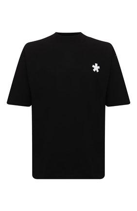 Мужская хлопковая футболка COMME DES FUCKDOWN черного цвета, арт. CDFU1242   Фото 1 (Длина (для топов): Стандартные; Рукава: Короткие; Материал внешний: Хлопок; Принт: С принтом; Стили: Спорт-шик)