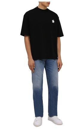 Мужская хлопковая футболка COMME DES FUCKDOWN черного цвета, арт. CDFU1242   Фото 2 (Длина (для топов): Стандартные; Рукава: Короткие; Материал внешний: Хлопок; Принт: С принтом; Стили: Спорт-шик)
