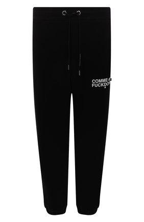 Мужские хлопковые джоггеры COMME DES FUCKDOWN черного цвета, арт. CDFU1234 | Фото 1 (Длина (брюки, джинсы): Стандартные; Материал внешний: Хлопок; Силуэт М (брюки): Джоггеры; Кросс-КТ: Спорт; Стили: Спорт-шик; Мужское Кросс-КТ: Брюки-трикотаж)