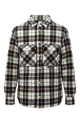 Мужская утепленная куртка MARCELO BURLON черно-белого цвета, арт. CMEA160F21FAB001   Фото 1 (Длина (верхняя одежда): Короткие; Материал подклада: Хлопок; Рукава: Длинные; Материал внешний: Хлопок; Кросс-КТ: Куртка; Мужское Кросс-КТ: утепленные куртки; Стили: Кэжуэл)