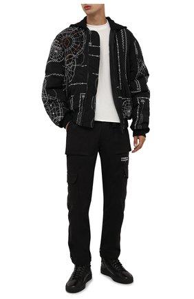 Мужские кожаные кеды SANTONI серого цвета, арт. MBGT21558NE0PG0NG62 | Фото 2 (Материал утеплителя: Натуральный мех; Подошва: Массивная)