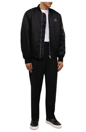 Мужские кожаные кеды frankie GIUSEPPE ZANOTTI DESIGN черного цвета, арт. RU00010/091   Фото 2 (Подошва: Массивная; Материал внутренний: Натуральная кожа)