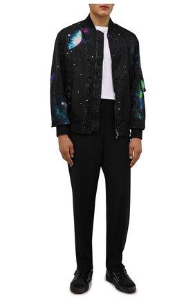 Мужские кожаные кеды frankie GIUSEPPE ZANOTTI DESIGN черного цвета, арт. RU10013/001 | Фото 2 (Подошва: Массивная; Материал внешний: Текстиль; Материал внутренний: Натуральная кожа)