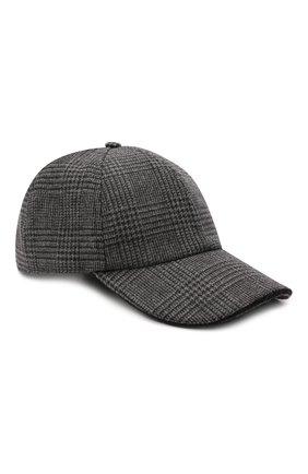 Мужской шерстяная бейсболка ETON темно-серого цвета, арт. A000 33157 | Фото 1 (Материал: Синтетический материал, Шерсть, Текстиль)
