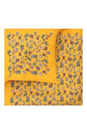 Мужской шелковый платок ETON желтого цвета, арт. A000 33121 | Фото 1 (Материал: Шелк, Текстиль)
