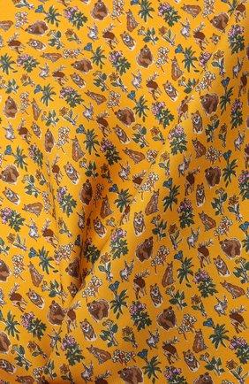 Мужской шелковый платок ETON желтого цвета, арт. A000 33121 | Фото 2 (Материал: Шелк, Текстиль)