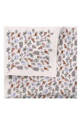 Мужской шелковый платок ETON белого цвета, арт. A000 33121 | Фото 1 (Материал: Шелк, Текстиль)