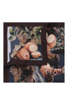 Мужской шелковый платок ETON коричневого цвета, арт. A000 33116 | Фото 1 (Материал: Шелк, Текстиль)