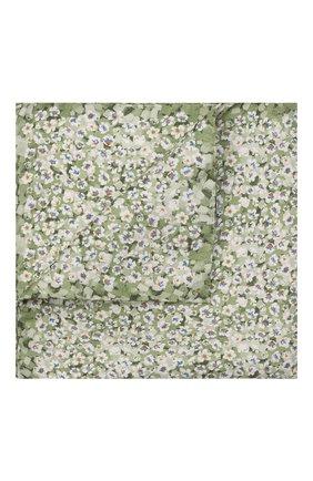 Мужской шелковый платок ETON зеленого цвета, арт. A000 33112   Фото 1 (Материал: Текстиль, Шелк)