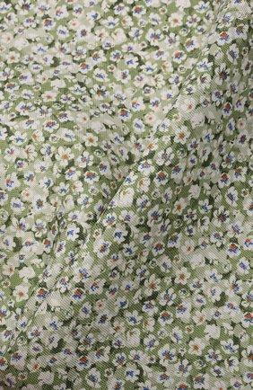 Мужской шелковый платок ETON зеленого цвета, арт. A000 33112   Фото 2 (Материал: Текстиль, Шелк)