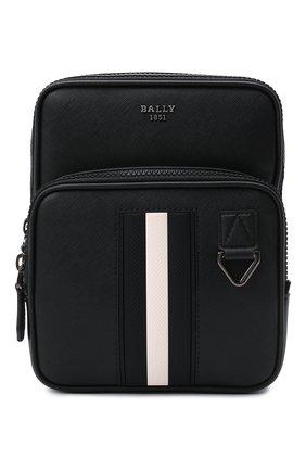 Мужская кожаная сумка molko BALLY черного цвета, арт. M0LK0/00 | Фото 1 (Ремень/цепочка: На ремешке; Материал: Натуральная кожа)