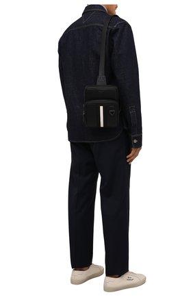Мужская кожаная сумка molko BALLY черного цвета, арт. M0LK0/00 | Фото 2 (Ремень/цепочка: На ремешке; Материал: Натуральная кожа)