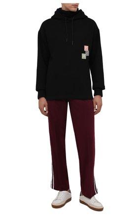 Мужской хлопковое худи TEE LIBRARY черного цвета, арт. TFK-HT-01 | Фото 2 (Материал внешний: Хлопок; Рукава: Длинные; Длина (для топов): Стандартные; Мужское Кросс-КТ: Худи-одежда; Стили: Спорт-шик)