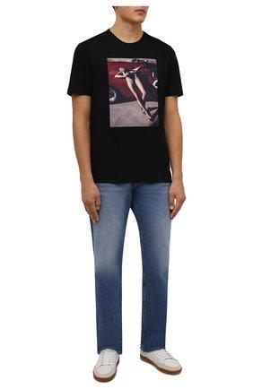 Мужская хлопковая футболка LIMITATO черного цвета, арт. NUMBER 2/T-SHIRT | Фото 2 (Материал внешний: Хлопок; Рукава: Короткие; Длина (для топов): Стандартные; Принт: С принтом; Стили: Гранж)