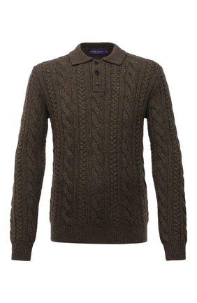 Мужской кашемировый свитер RALPH LAUREN хаки цвета, арт. 790846102 | Фото 1 (Материал внешний: Шерсть, Кашемир; Рукава: Длинные; Длина (для топов): Стандартные; Мужское Кросс-КТ: Свитер-одежда; Стили: Кэжуэл; Принт: Без принта)