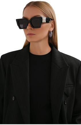 Женские солнцезащитные очки OFF-WHITE черного цвета, арт. 0ERI003Y21PLA001   Фото 2 (Тип очков: С/з; Очки форма: Бабочка; Оптика Гендер: оптика-женское)