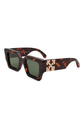Женские солнцезащитные очки OFF-WHITE коричневого цвета, арт. 0ERI003Y21PLA001 | Фото 1 (Тип очков: С/з; Очки форма: Бабочка; Оптика Гендер: оптика-женское)