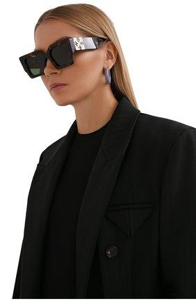 Женские солнцезащитные очки OFF-WHITE коричневого цвета, арт. 0ERI003Y21PLA001 | Фото 2 (Тип очков: С/з; Очки форма: Бабочка; Оптика Гендер: оптика-женское)