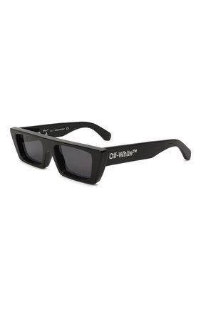 Женские солнцезащитные очки OFF-WHITE черного цвета, арт. 0ERI010Y21PLA001   Фото 1 (Тип очков: С/з)