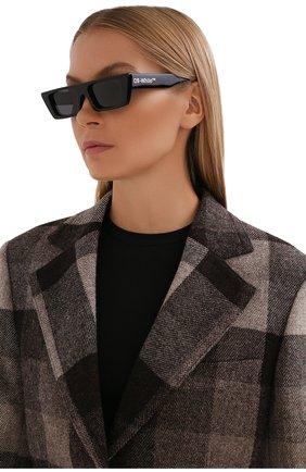 Женские солнцезащитные очки OFF-WHITE черного цвета, арт. 0ERI010Y21PLA001   Фото 2 (Тип очков: С/з)