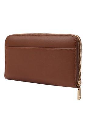 Женские кожаный кошелек DOLCE & GABBANA коричневого цвета, арт. BI0473/A0049 | Фото 2