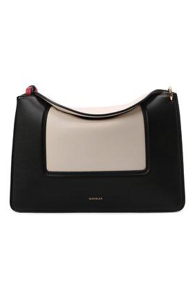 Женская сумка penelope medium WANDLER черно-белого цвета, арт. PENEL0PE BAG/SHADES   Фото 1 (Материал: Натуральная кожа; Размер: medium; Сумки-технические: Сумки через плечо)
