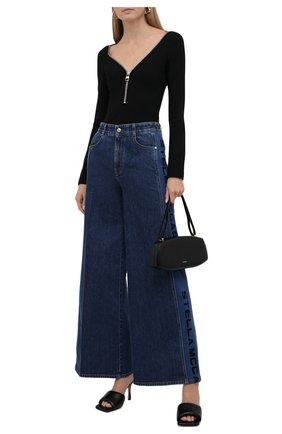 Женское боди ALEXANDER MCQUEEN черного цвета, арт. 677226/QLABB | Фото 2 (Рукава: Длинные; Материал внешний: Вискоза, Синтетический материал; Стили: Спорт-шик; Женское Кросс-КТ: Боди-одежда)