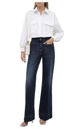 Женская хлопковая рубашка ALEXANDER MCQUEEN белого цвета, арт. 675818/QAAAY   Фото 2 (Длина (для топов): Удлиненные; Рукава: Длинные; Материал внешний: Хлопок; Стили: Минимализм; Принт: Без принта; Женское Кросс-КТ: Рубашка-одежда)